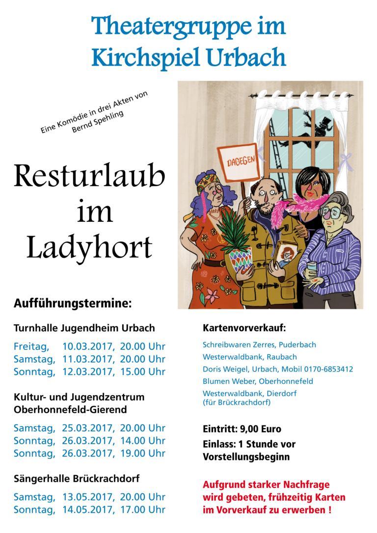 Theatergruppe Urbach Plakat